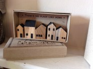 East of India No Place Like Home Set of Wooden Houses In Box